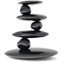 rocks stacked to balance on top of each other